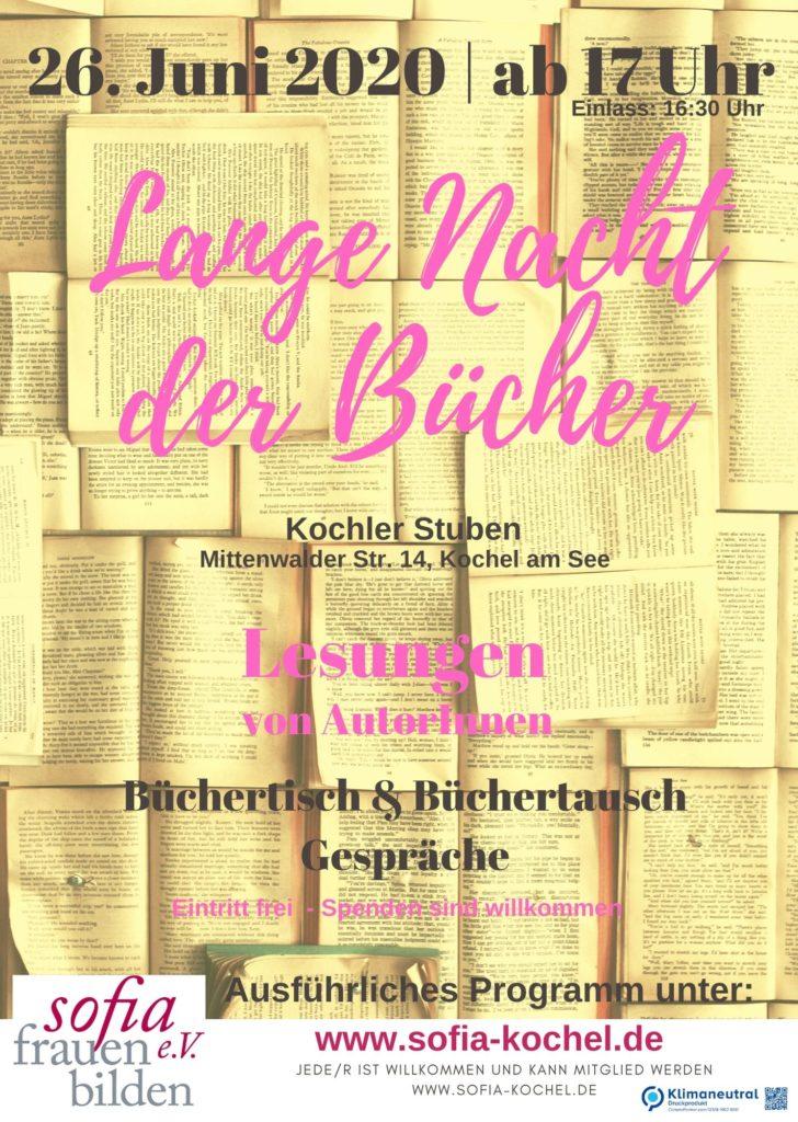Plakat Lange Nacht der Bücher 2020